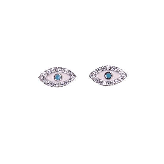 עגילי עיניים צמודות אדום\טורקיז\לבן\ורוד