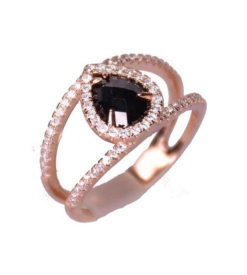 טבעת טיפה אוניקס מרכזית