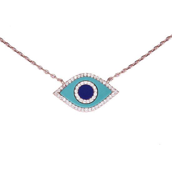 שרשרת עין טורקיז