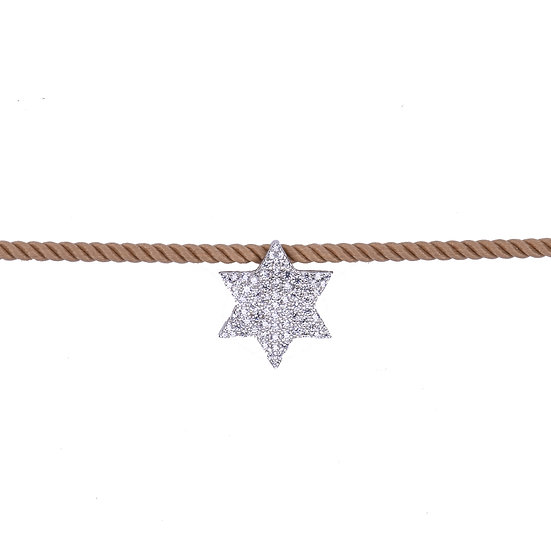 Cotton collar with Star of David
