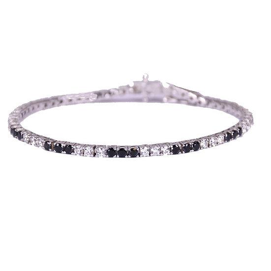 Basic tennis bracelet black&white