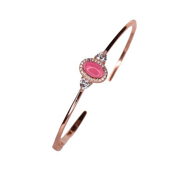 Bangle bracelet ruby eye stones