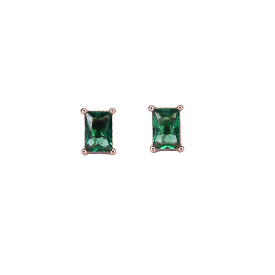 עגילי אבן חן ירוקה