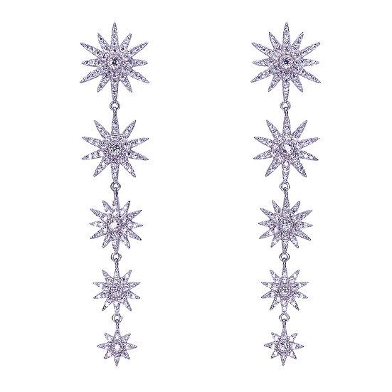 עגילי 5 כוכבים זיקוקים נופלים