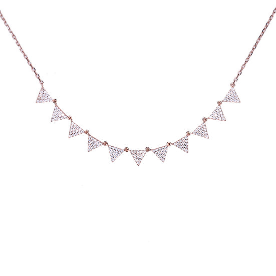 Small Triangles necklace