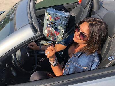Vered Konfino in car
