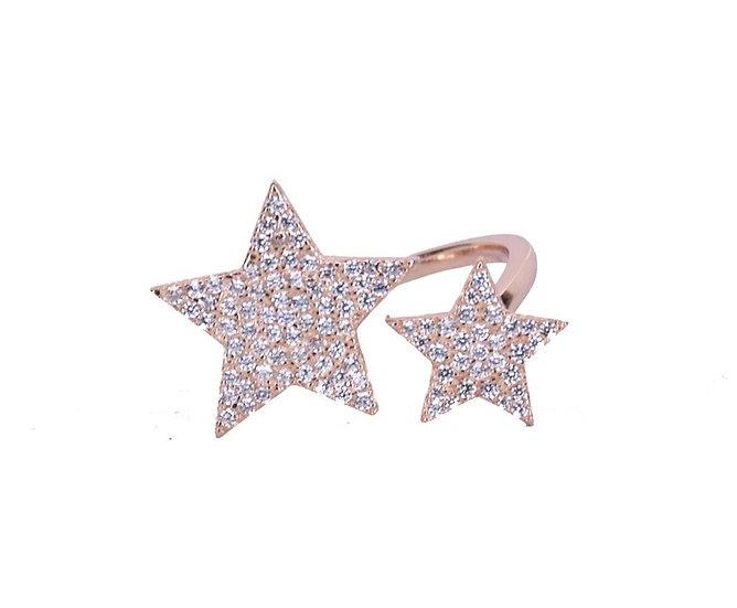 טבעת כוכב גדול כוכב קטן ⭐️💫