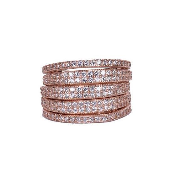 טבעת 5 שורות מחוברת