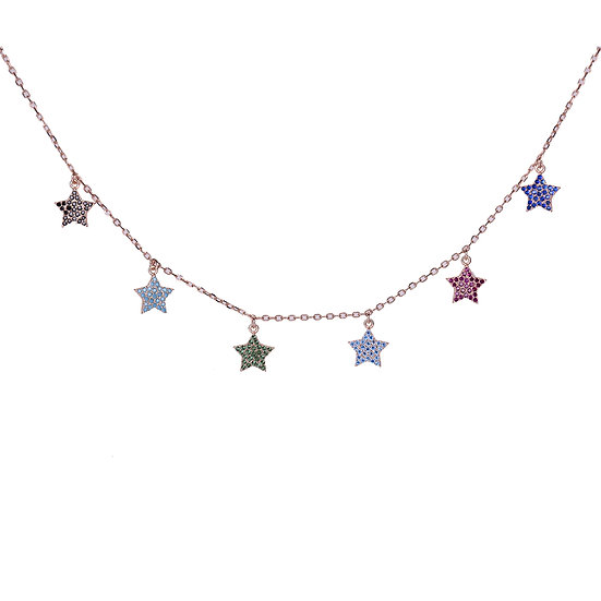 Colorful stars necklace