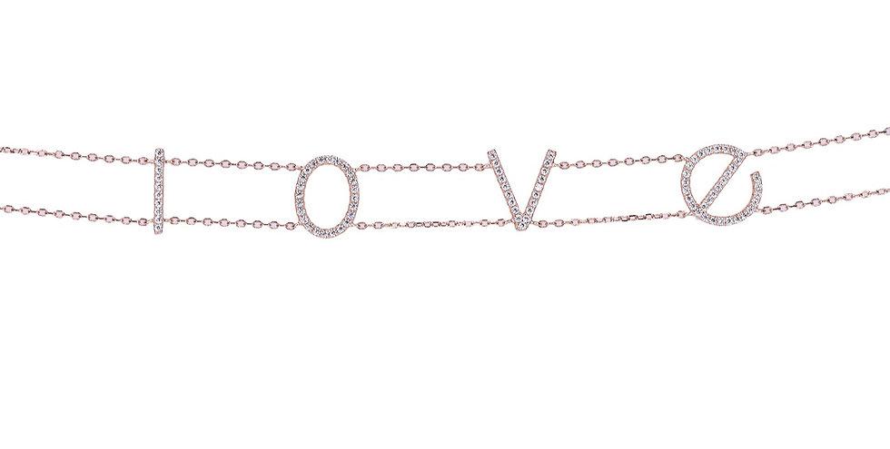 "Choker necklace ""LOVE"""