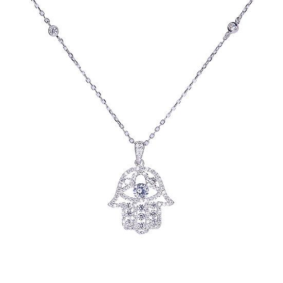 Hamsa pendent necklace