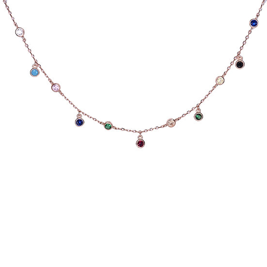 Colorful choker necklace