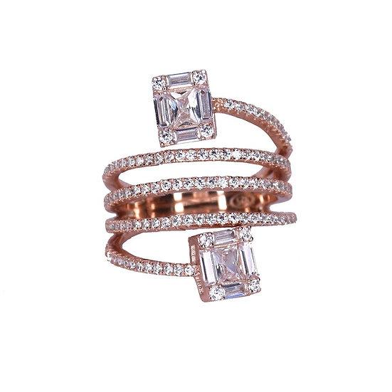 טבעת ספירלה אבני בגט