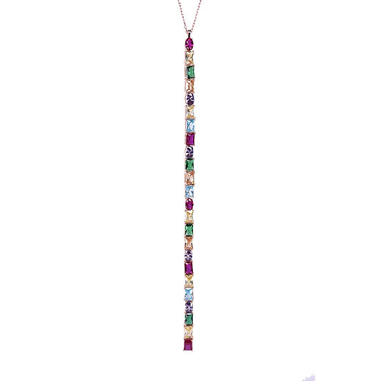 Fall colorful stones necklace
