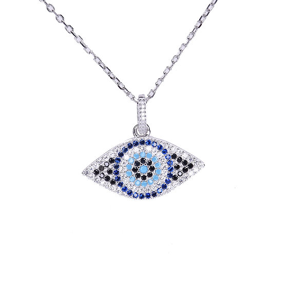 Classic turquoise evil eye necklace