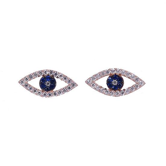 stud blue eye earrings