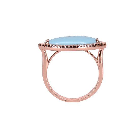 טבעת מעויין טורקיז