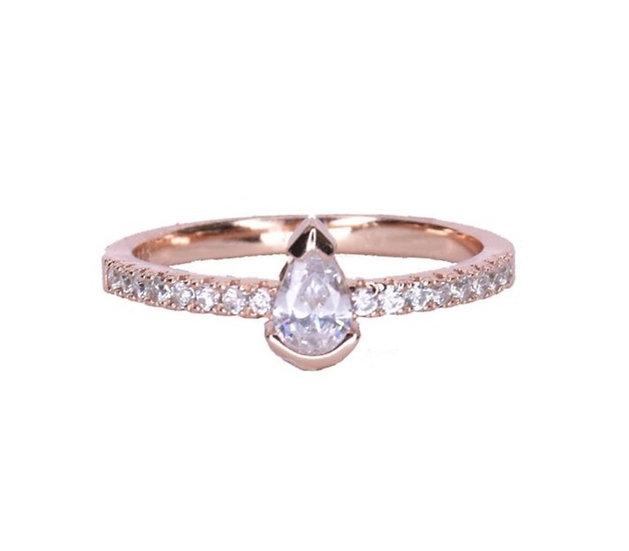 טבעת פס בשילוב טיפה