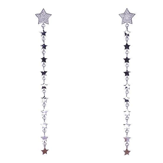 Star earrings with falling stars