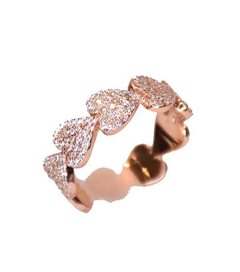טבעת לבבות מלאה 🤍🤍🤍