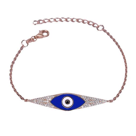 צמיד פלטה בשילוב עין כחולה