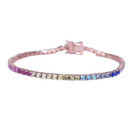 Colorful Basic Tennis squire Bracelet