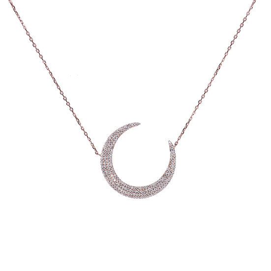 Closed moon necklace