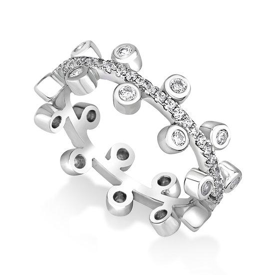 טבעת פס עם עיגולים