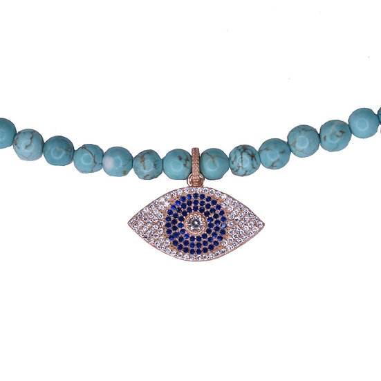 שרשרת טורקיז עם עין כחולה