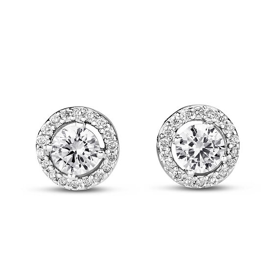 Big zircon stud earrings