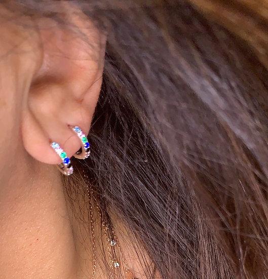 Colorful small hoop earrings