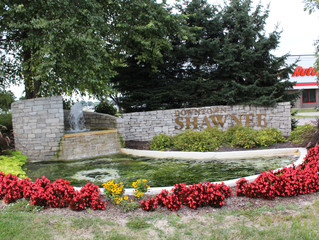 Downtown Shawnee Fountain