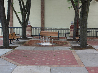 Clock Tower Plaza Fountain