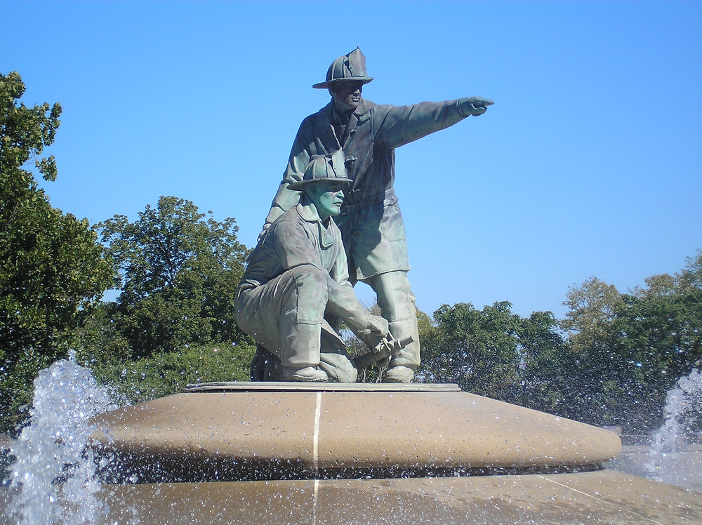 Firefighters Memorial Fountain, Photo by: Bradley Cramer