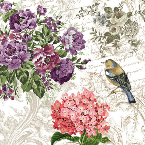 Charming Garden Paper Napkins Special Effects Decorating