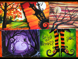 Spooktacular month of paintings!