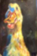 Adult art classes, Carlsbad Art school, Acrylic on canvas, Duck painting