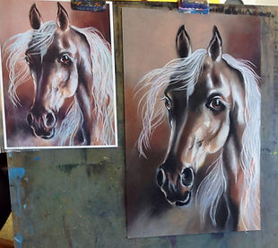 ult art classes, Carlsbad Art school, soft pastel, horse drawing painting.