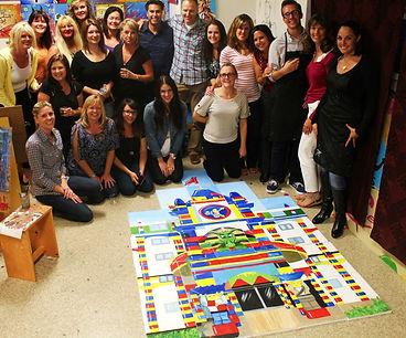 Painting party, team building, acrylic on canvas, Carlsbad art school, legoland painting