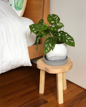 Hana stool used as a planter stand