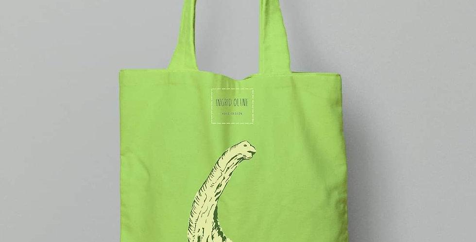 Handlenett: grønn dinosaur