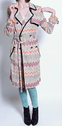 Missoni Chevron Stripe Overcoat