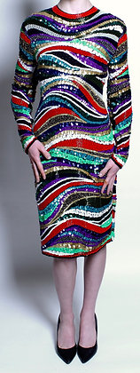 Multi Color Fully Sequined Dress