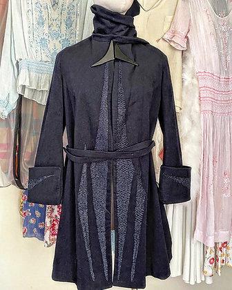 20's Wool Velour Art Deco Coat