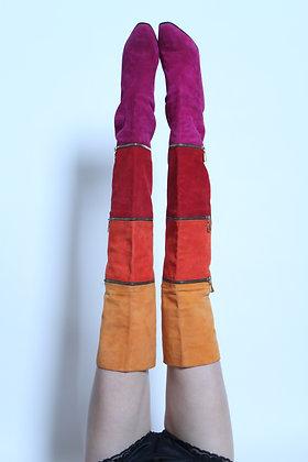 Anne Klien Convertible Suede Boots