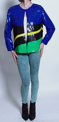 80's Fully Sequined 3 Color Jacket