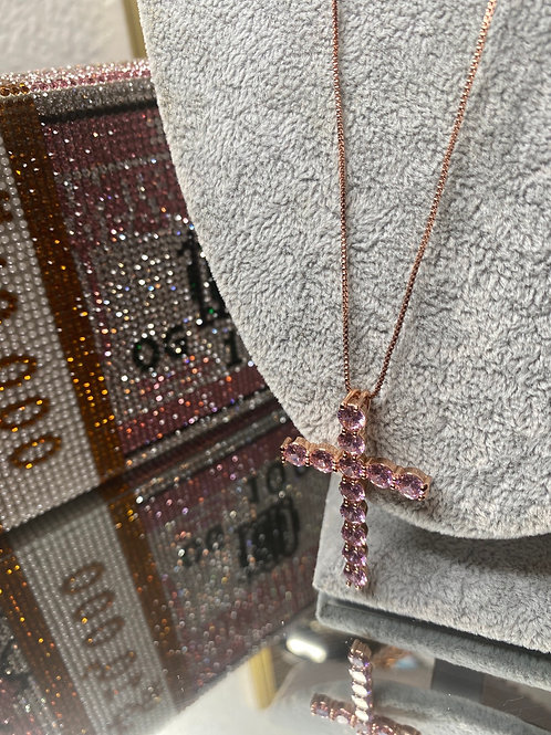 Cross chains (Pink Gold)