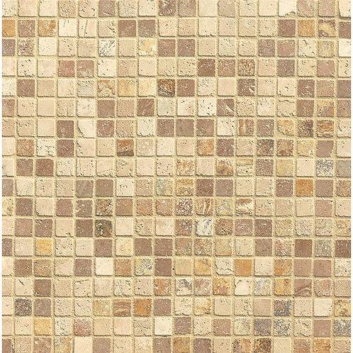 "Blend 3/4"" x 3/4"" - Travertine Mosaic Blend Collection"
