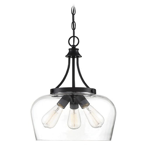 Savoy House Octave Pendant with Clear Glass