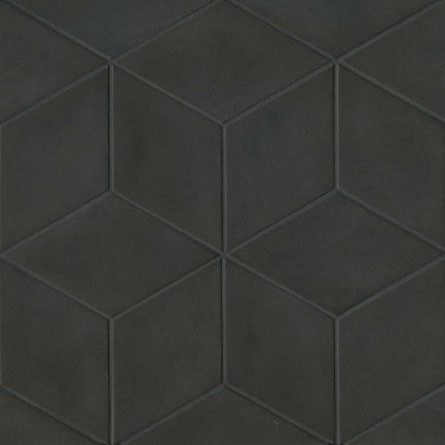 """Solid Black 7.38""""x 12.75"""" - Allora Collection"""